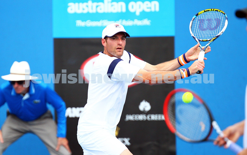 21-1-15. Australian Open. Men's Doubles. Round 1. Jonathan Erlich (ISR)/Treat Huey (PHI) defeats Dusan Lajovic (SRB)/Yen-Hsun Lu (TPE) 6-3 6-7 6-3. Photo: Peter Haskin