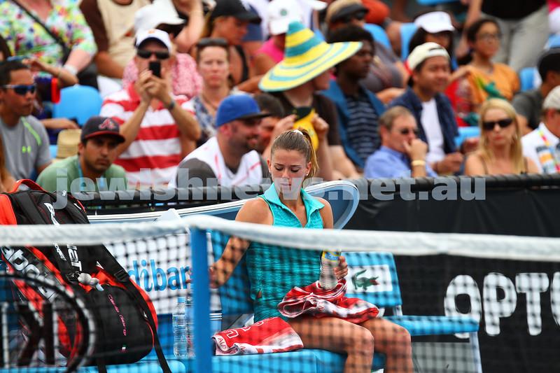20-1-15.  Australian Open 2015.  Day 2.  Camila Giorgi  def  Flavia Pannetta 4-6  6-2 6-3. Photo: Peter Haskin