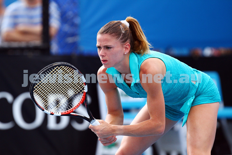 20-1-15.  Australian Open 2015.  Day 2.  Camila Giorgi  def  Flavia Pannetta 4-6  6-2 6-3. Photo: Peter Haskin