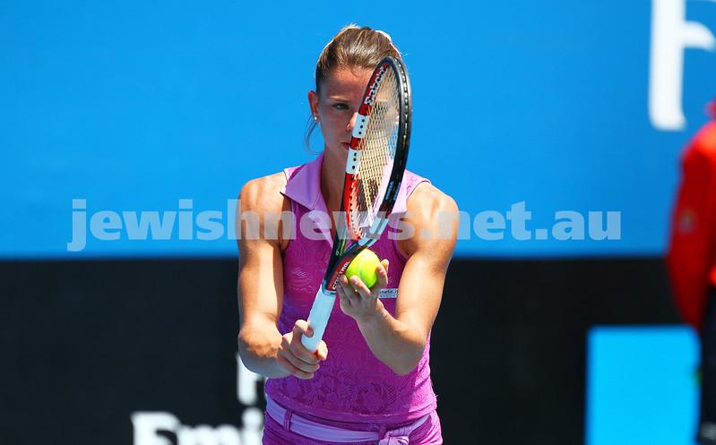 22-1-15. Australian Open 2015. Women's Round 2. Camila Giorgi (ITA) defeats Tereza Smitkova (CZE) 6-1 6-4. Photo: Peter Haskin