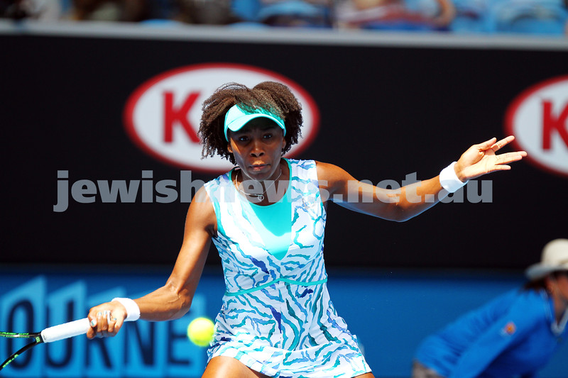 24-1-15. Australian Open 2015. Round 3 Women's Singles. Camili Giorgi lost to Venus Williams 6-4 6-7 1-6. Photo: Peter Haskin