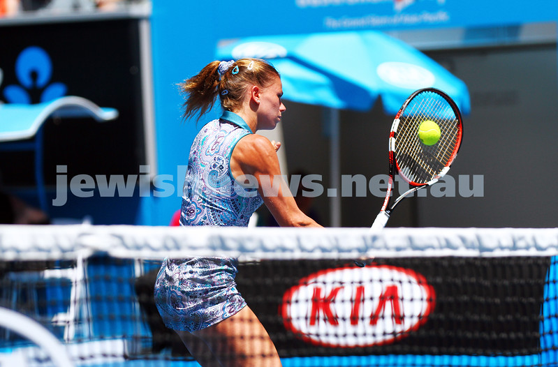 24-1-15. Australian Open 2015. Round 3 Women's Singles. Camili Giorgi lost to Venus Williams 6-4 6-7 1-6. Photo: Peter Haskin