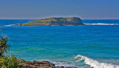 Captain James Cook sailed up this coast in 1770 - his charts this islet as Cooks Isle - it is still known by that name.