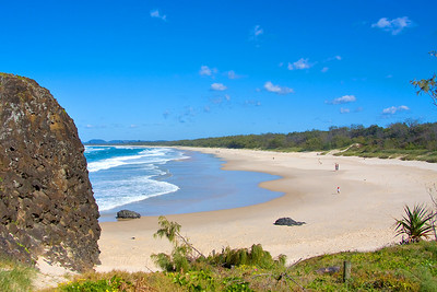 Looking south of Fingal Head along Dreamtime Beach.