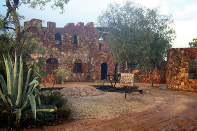 Omigo's Castle - taken through a window Omigo built his castle by hand with local rocks