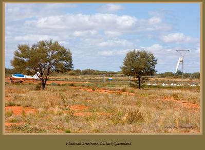 The airport at Windorah in Channel Country, outback Queensland, Australia.  Photographed August 2010 - © 2010 Lesley Bray Photography