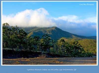 Clouds on the mountain, in the opposite direction to Lighthouse Mountain from the lookout.  Photographed July 2010 - © Lesley Bray Photography