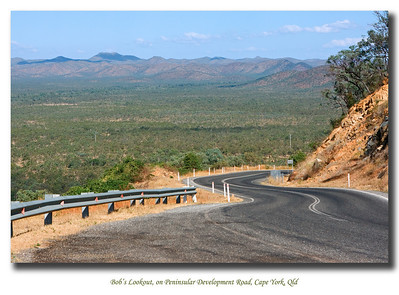 Bob's Lookout, on Peninsular Development Road looking over Elephant Mountain