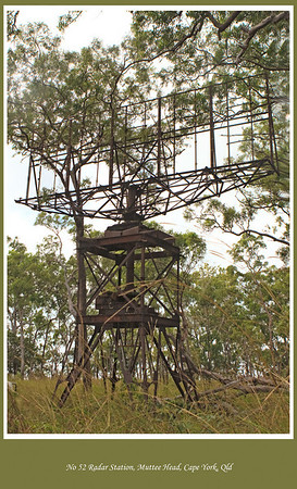 It was no mean feat to find No 52 Radar Station at remote Muttee Heads - a relic of WW2.  We travelled along remote disused overgrown track in find it. Cape York Peninsular, Queensland, Australia.   Photographed June 2010 - © Lesley Bray Photography