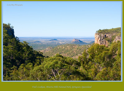 Fantastic view from Fred's Lookout in Minerva Hills National Park at Springsure, Queensland, Australia.  Photographed August 2010 - © Lesley Bray Photography