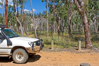 Arrival at Cathedral Rock at Mt Moffatt section of Carnarvon National Park.  April 2010.