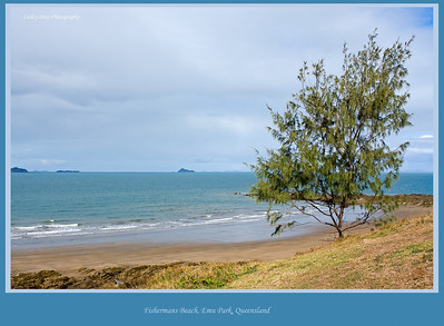 View from the Singing Ship overlooking Fishermans Beach at Emu Park on the Capricornia Coast, Queensland, Australia.  Photographed August 2010 - © Lesley Bray Photography