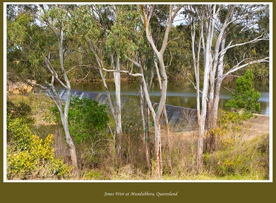 Jones Weir at Mundubbera, Queensland, Australia was built in 1951 on the Burnett River.  Photographed August 2010 - © Lesley Bray Photography