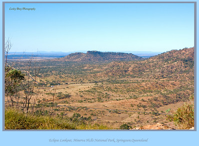 The Eclipse Lookout was so very very high, with an awesome view of the Dawson Highway.  From Mt Zamia in the Minerva Hills National Park at Springsure, Queensland, Australia.  Photographed August 2010 - © Lesley Bray Photography