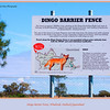 The sign says it all !<br /> Dingo Barrier Fence, on the Diamantina Developmental Road east of Windorah in outback Queensland, Australia.<br /> <br /> Photographed August 2010 - © 2010 Lesley Bray Photography
