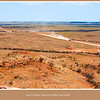 Looking over the Birdsville Developmental  Road at Deon's Lookout near Betoota, outback Queensland, Australia. <br /> Deon Brook was a local boy killed in a helicopter accident.<br /> <br /> Photographed August 2010 - © 2010 Lesley Bray Photography