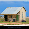 """Little House on the Prairie - actually a small house at Windorah, in outback Queensland, Australia.  The skies are beginning to darken, less than two hours later we were swamped by a severe rain storm.  Photographed September 2010 - © Lesley Bray Photography <a href=""""mailto:lesley999@bigpond.com"""">Contact Me</a> if you would like a copy of the above image, it is available without the frame and watermark."""