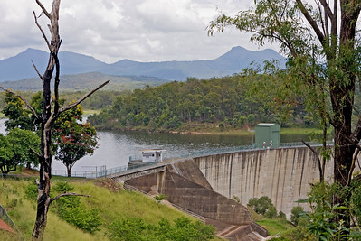 Lake Moogerah, formed by Moogerah Dam, is a water supply and irrigation dam on Reynolds Creek, a tributary of the Bremer River in South-East Queensland's Fassifern Valley. Taken from the lookout above the dam in Haigh Park