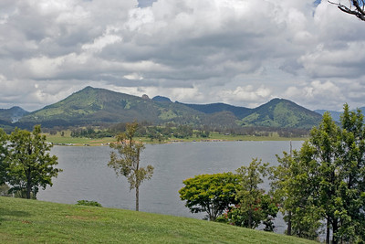 Looking over Lake Moogerah towards Cunningham's Gap
