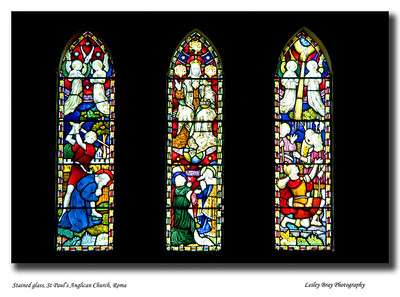 One of the many outstanding examples of stained glass at St Paul's Anglican Church in Roma, Queensland  April 2010