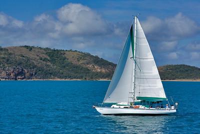 Yacht in Keppel Bay  September 2008