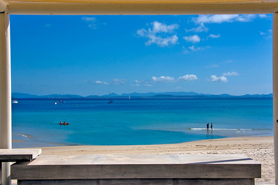 View from my chair - Great Keppel Island - first Island on the Great Barrier Reef