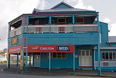 The Australian Hotel, one of the many historic buildings in Gympie, has remained largely unchanged since it was built in 1883.