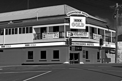 The Freemason's Hotel was one of the earliest hotels in Gympie