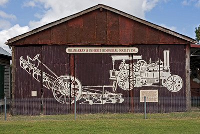 Mural found at  the Millmerran Museum