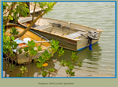 Dinghies at Dungeness on the Herbert River at North Lucinda, north Queensland, Australia.   Photographed July 2010 - © Lesley Bray Photography
