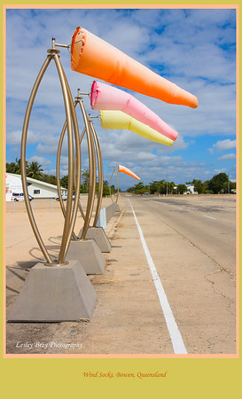Wind socks at the Catalina Memorial Site at Bowen, North Queensland, Australia  Photographed August 2010 - © Lesley Bray Photography