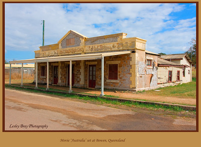 """Facade used for the film """"Australia' set at Bowen, Queensland, Australia.  The facade covers two old railway cottages.  Photographed August 2010 - © Lesley Bray Photography"""