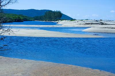 Jilgi Beach where a creek meets the sea  10 June 2010