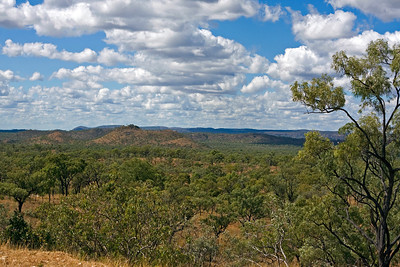 This is the view we had from the Newcastle Range, near Georgetown, Qld  04 June 2010