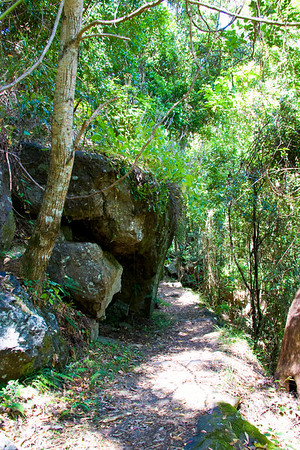 Part of the track down to the caves