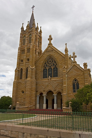 The Gothic Revival-style St Mary's Catholic Church was built of sandstone in 1864.