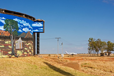 Airport at Boulia, Western Queensland.  25 May 2010
