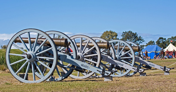 Canon lineup at History Alive Festival - July 2009
