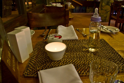 Dinner at the Lodge - we had a wonderful meal - Daniel had water !!! - as if