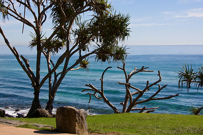 This is a great place to sit and watch the surfboard riders - not many out today