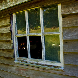 The window in Dad's old shed - I'll be sad when it falls down or the time comes to demolish it. Photo taken July 2008. Update: The shed was knocked down seven years later in 2015.