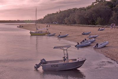 Close of Day at Main Beach, Coochiemudlo Island - a stone's throw from where I live.