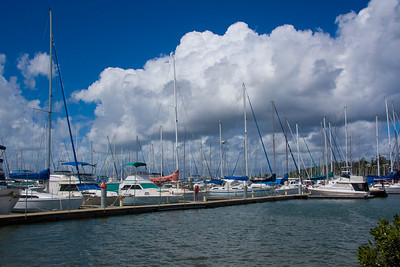I really think I was trying to capture the clouds - the marina was secondary - and yes it did rain on the way home.