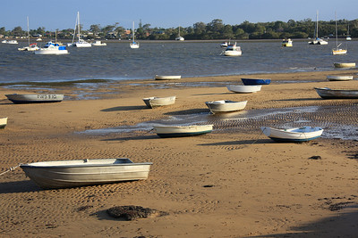Stranded dinghies at Pt O'Halloran - they're all heading in the one direction - I estimated 75-80 of them.