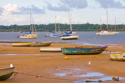 Boats at Point O'Halloran at Victoria Point