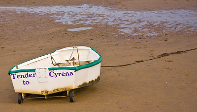 Some dingies have wheels - This one belongs to the Yacht Cyrena