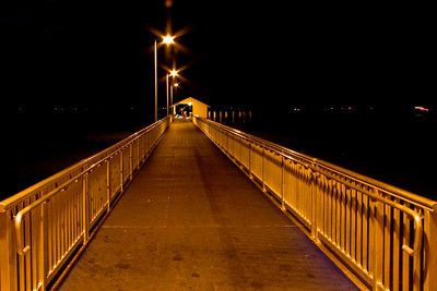Victoria Point Jetty at night