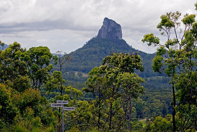 Mt Coonowrin  Taken from Glasshouse Mountains Lookout - February 2010