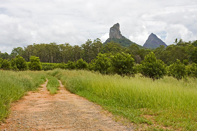 Mt Coonowrin on the left and Mt Beerwah on the right