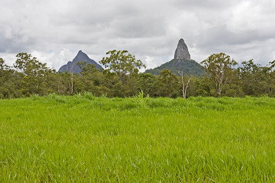 Mt Beerwah on the left - Mt Coonowrin on the right